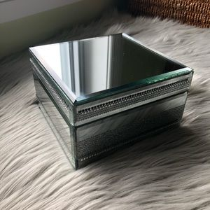 Other - Silver Sparkle Mirror Jewelry Box